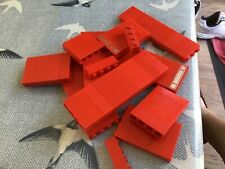 Toy Lego 100 red bricks 1 x 4 played with