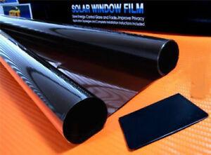 5 % Super Dark Black Smoke Window Tinting Film Tints Kit Car Kitcar SUV 75cmx 3m