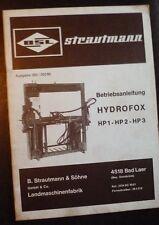 Strautmann Hydrofox HP 1 + 2 + 3 Betriebsanleitung
