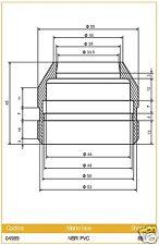 I 04989 Ariete Cubierta para Marzocchi Hidráulica diámetro 35 Bast