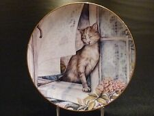 Summer Breeze Zoe Stokes Zoe's Cats American Artists Cat Collector Plate
