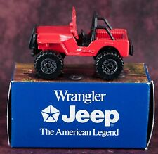 Matchbox Chrysler Jeep Wrangler Red 1:59 Promotional Mint In Box Rare 1993