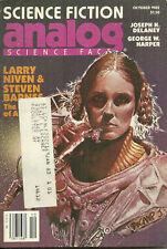 Oct 1982 Analog Magazine- Larry Niven