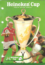 HEINEKEN CUP RUGBY MEDIA GUIDE 2000/1 LEICESTER WINNERS