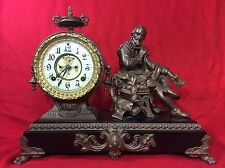 Ansonia Figural Mantle Clock PYTHAGORAS Open Escapement.WILLIAM SHAKESPEARE