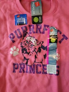 NWT Hanes Toddler Girl's Crew Neck Sweatshirt- Size 3T