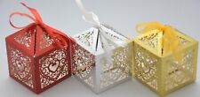 Wedding Favour Laser Cut Metallic Hearts Sweets Cake Candy Boxes Party Table