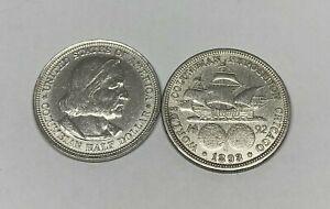1893 Silver Columbian Exposition US Commemorative Half Dollar World's Fair Expo