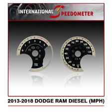 2013 - 2018 Dodge Ram Diesel Speedometer Faceplate (MPH)