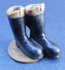 Escala 1:12 Par De Botas Para Damas De Casa De Muñecas En Miniatura De Ropa Calzado BA9