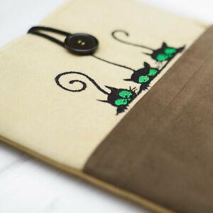 Cat Embroidery Design Case Cover Bag iPad Mini Pro Air 4 10.2 10.5 11 12.9 2021