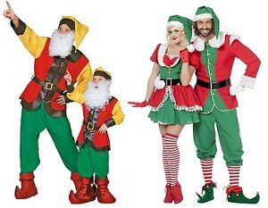Santa Helfer Gehilfe Elfe Kleid Zwerg Wichtel Weihnachten Nikolaus Kostüm Anzug