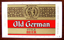 """Peter Hand OLD GERMAN STYLE BEER  beer label IL 12oz """"mini"""" size"""