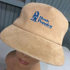 VTG Hush Puppies Shoes Real Leather Strapback Baseball Hat Cap USA