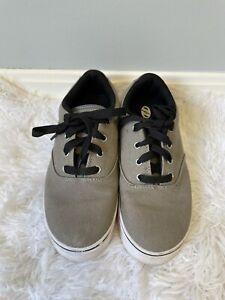 Heelys Boys Shoes Gray Canvas Skate Shoe Size 5 Youth