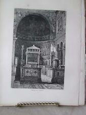 Vintage Print,ST.CLEMENTS,Rome,Francis Wey,1872