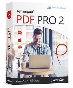 Ashampoo PDF Pro 2 für 3 PCs - Bearbeiten, Konvertieren, Zusammenfügen- Download