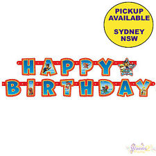 PAW PATROL PARTY SUPPLIES HAPPY BIRTHDAY 1.9m LONG JOINTED BANNER DECORATIONS