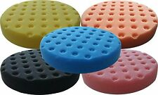 5 PACK 5.5 Inch Lake Country CCS Foam Pads Yellow Orange Pink Black Blue Kit