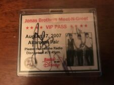 Jonas Brothers signed 2007 Meet-N-Greet pass by all three brothers.
