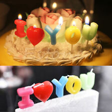 """I Love You"" Letter Wedding Birthday Anniversary Candle Toothpick Cake Candle"