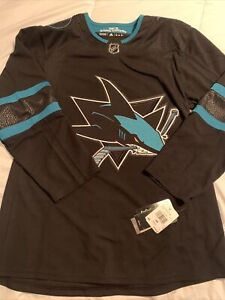 NEW Adidas NHL San Jose Sharks Alternate Authentic Jersey Sz 46 $180 DW4831