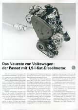 VW Passat 1,9 Diesel Prospekt 2 91 brochure 1991 Auto PKWs Autoprospekt Europa