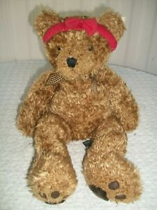 """Russ Berrie ~ Bears From The Past ~ Wembly ~ 18"""" Tall ~ Shaggy Plush ~ with Tag"""