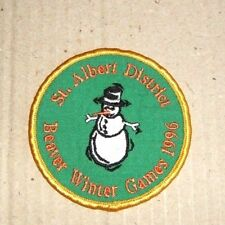 Scouts Canada Badge / Patch - St. Albert District Beaver Winter Games 1996