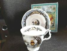 More details for royal doulton  winnie the pooh  cup & saucer the woozle boxed  first quality