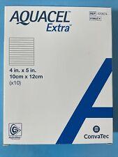 "Aquacel Extra 4""X5"" x10 Hydrofiber Dressing Strengthening Fiber 420674 Exp 11/24"