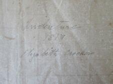 Vintage Indenture of Elizabeth Crocker,1819,Fremington,D evon,England,Handwritten