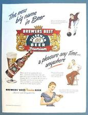 Original 1948 Brewers' Best Beer Ad BIG NEW NAME IN BEER ...  ANY TIME  ANYWHERE