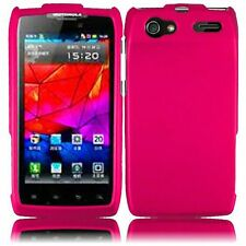 For Motorola Electrify 2 XT881 Rubberized HARD Case Snap On Phone Cover Hot Pink