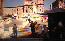 KODACHROME 35mm Slide Italy Rome Spanish Steps Man Woman People Flowers 1970!!!