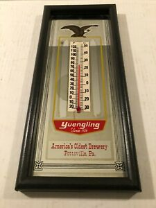 Rare Vintage Yuengling Beer 1970's Mirror Thermometer Sign Pottsville PA