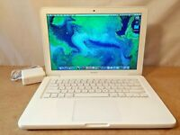 "Apple MacBook 13"" inch White Model Upgraded Laptop Computer OSX 10.10 DVD WIFI"