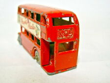 "Matchbox RW 5B London Bus rot ""Players Please"" Beschriftung Plastikräder"
