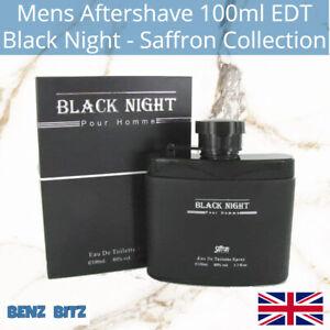 Black Night Mens Aftershave By Saffron 100ml EDT Eau De Toilette Spray