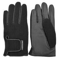 FULL FINGER GENUINE LEATHER CAR BUS DRIVING GLOVES CHAUFFEUR BIKER RETRO STYLE