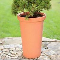 60cm Tall High Slim Round Elegant Tower Terracotta/Brick Colour Flower Pot