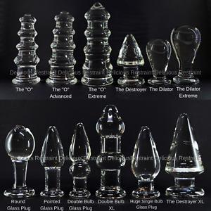 Smooth Large Glass Butt Plug Dildo Buttplug Anal Plug Toy Choice of Styles (UK)