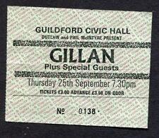 1980 Ian Gillan from Deep Purple Concert Ticket Stub Guildford UK Glory Road