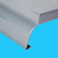 Alu Fensterbank RAL9006 abgerundet für Außen, Aluminium Blech Fenstersims