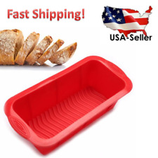 Bread Mold Silicone Rectangle Loaf Pan Cake Nonstick home made Baking 10 X 5