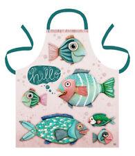 Gorgeous Colourful HELLO FISH Cotton Apron by Allen Designs