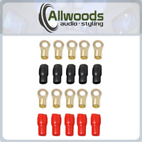 4 GAUGE RING TERMINALS  RED BLACK 4 AWG terminals 10 pack 5 pairs