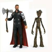 Marvel Select Avengers Infinity War Chris Hemsworth Thor & Groot Action Figure