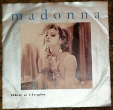 """MADONNA LIKE A VIRGIN STAY MADE IN ITALY 7"""" VINYL 1984  RARE 45 giri/rpm"""
