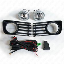 For 2004-2009 Toyota Prius Clean Lens Fog Light Kit SET with Switch Bulbs Bezel